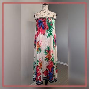 Floral Strapless Tube Dress